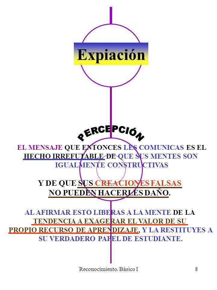 Expiación PERCEPCIÓN Y DE QUE SUS CREACIONES FALSAS