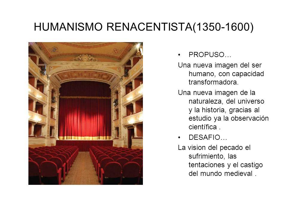 HUMANISMO RENACENTISTA(1350-1600)