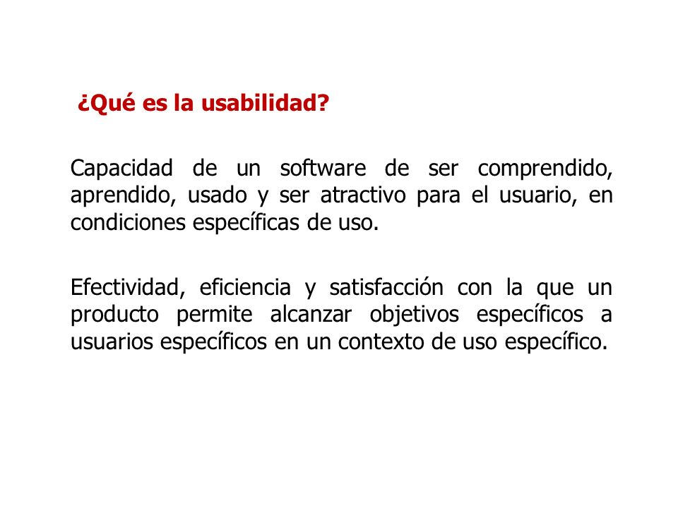 ¿Qué es la usabilidad