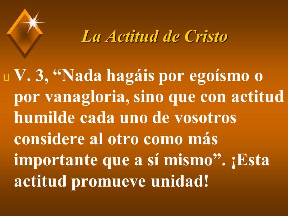 La Actitud de Cristo