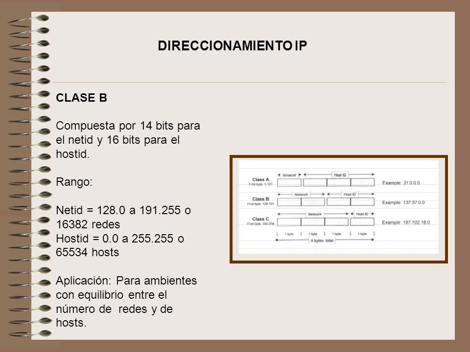 DIRECCIONAMIENTO IP CLASE B