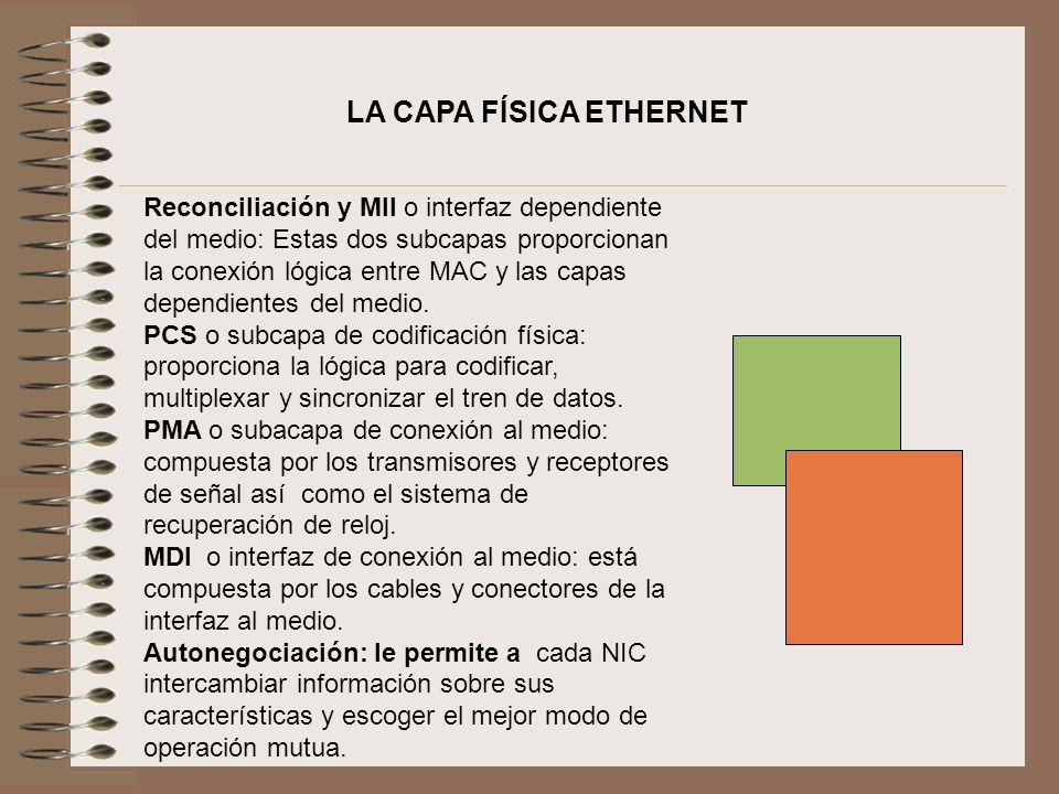 LA CAPA FÍSICA ETHERNET