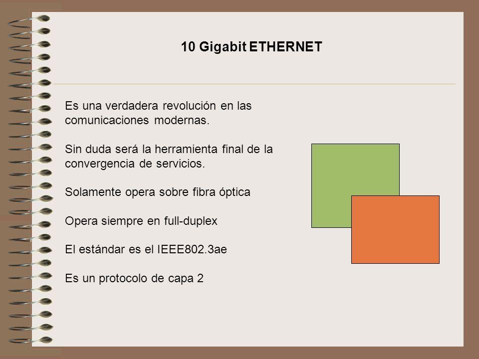 10 Gigabit ETHERNET Es una verdadera revolución en las comunicaciones modernas.