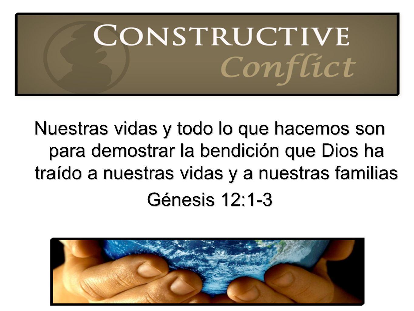 Nuestras vidas y todo lo que hacemos son para demostrar la bendición que Dios ha traído a nuestras vidas y a nuestras familias