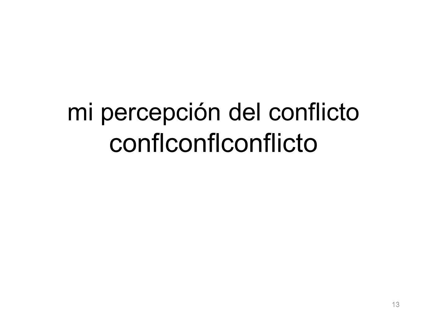 mi percepción del conflicto conflconflconflicto
