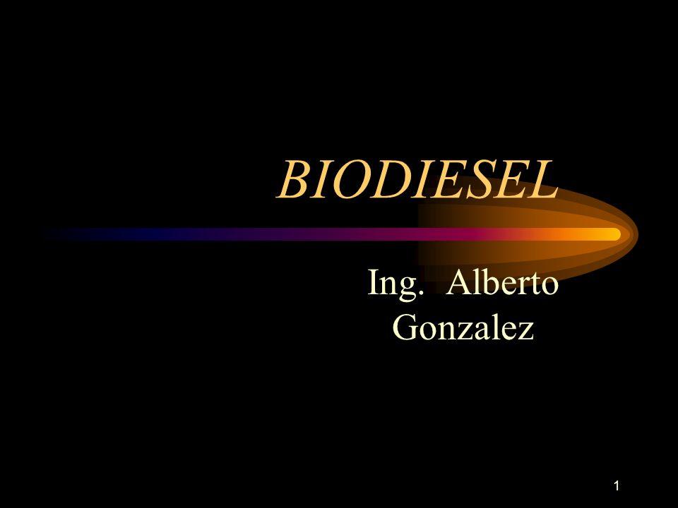 BIODIESEL Ing. Alberto Gonzalez