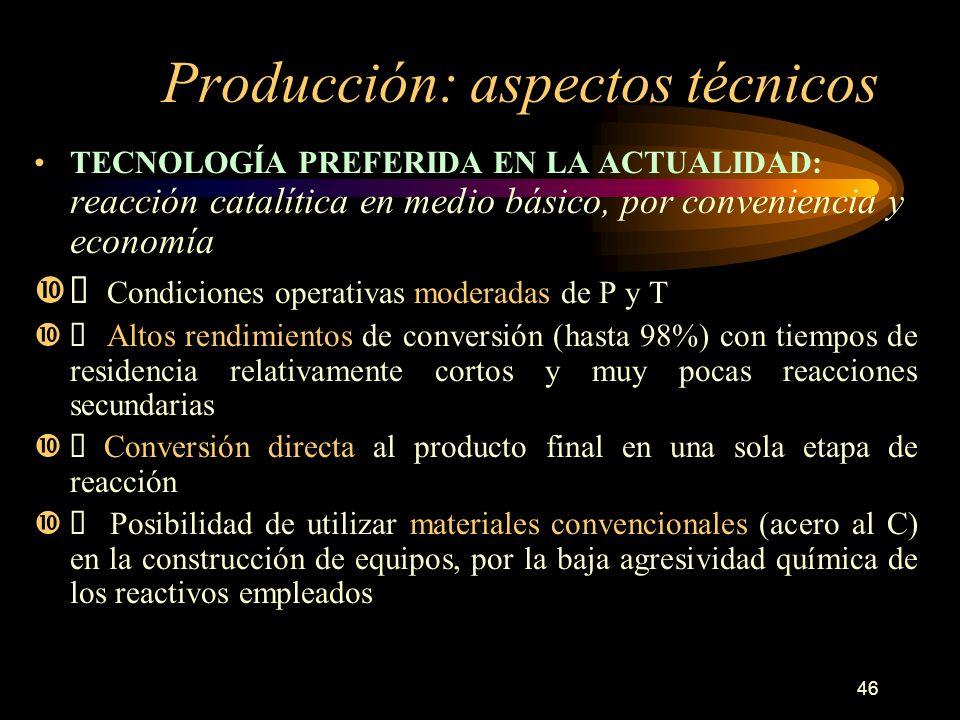 Producción: aspectos técnicos