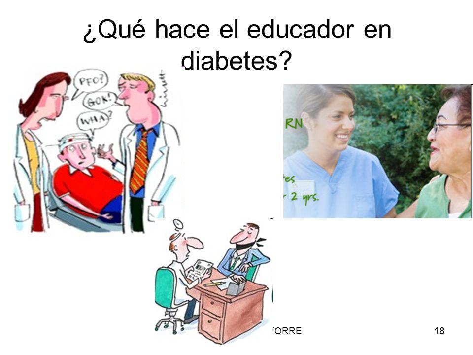 ¿Qué hace el educador en diabetes