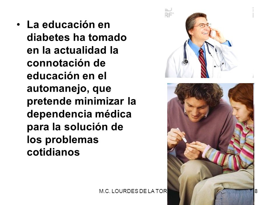 La educación en diabetes ha tomado en la actualidad la connotación de educación en el automanejo, que pretende minimizar la dependencia médica para la solución de los problemas cotidianos