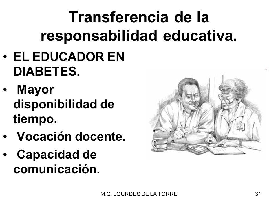Transferencia de la responsabilidad educativa.