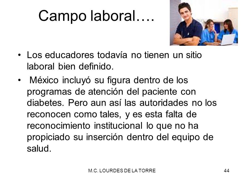 Campo laboral…. Los educadores todavía no tienen un sitio laboral bien definido.
