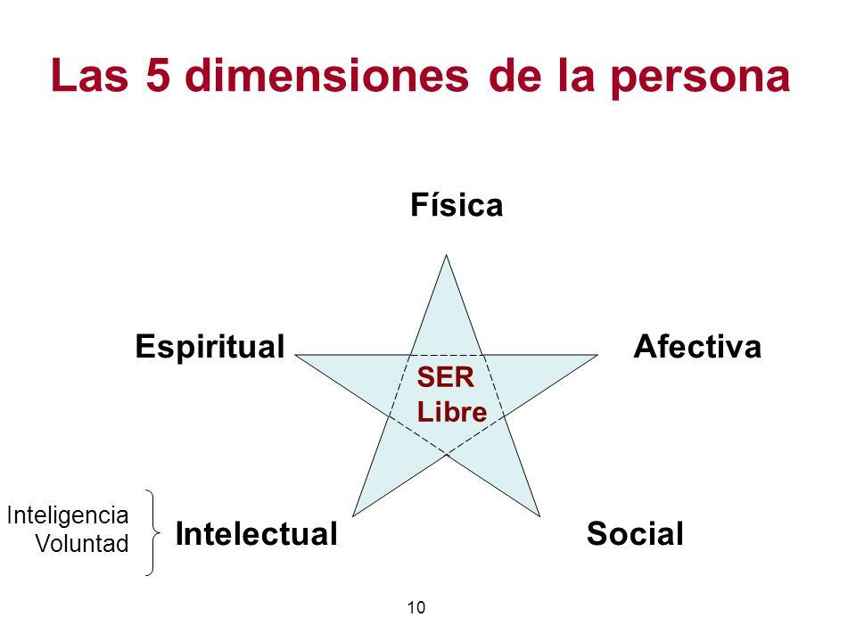 Las 5 dimensiones de la persona