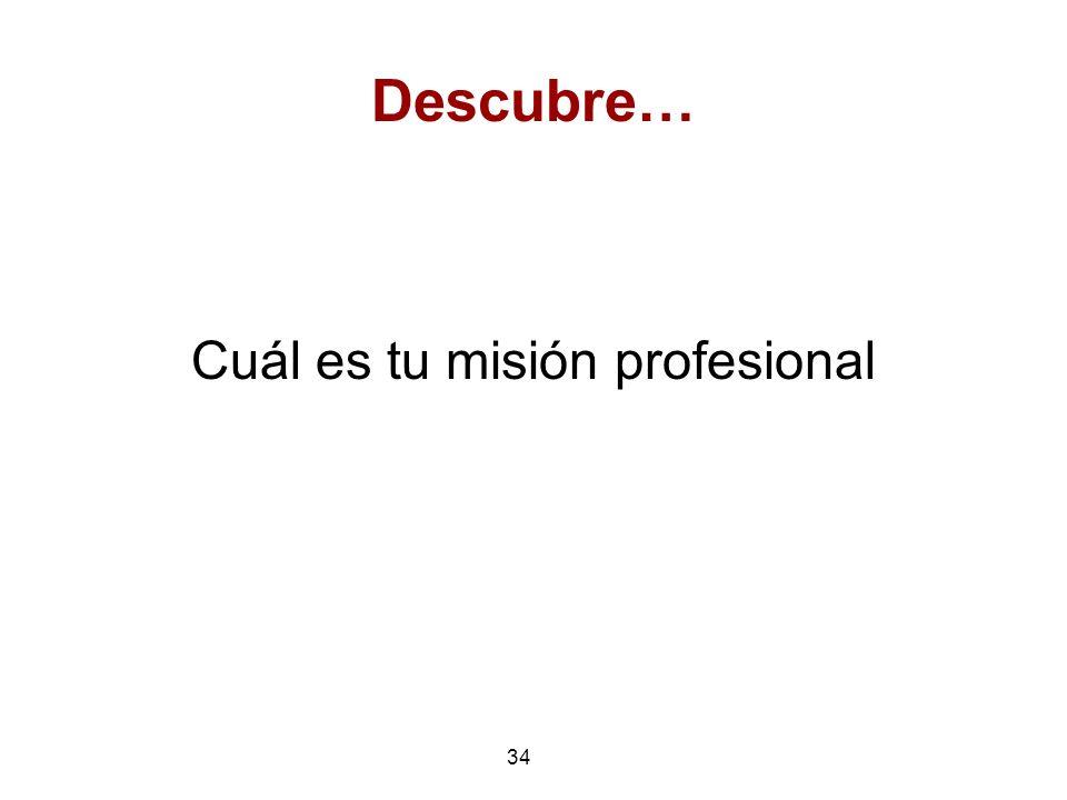 Cuál es tu misión profesional