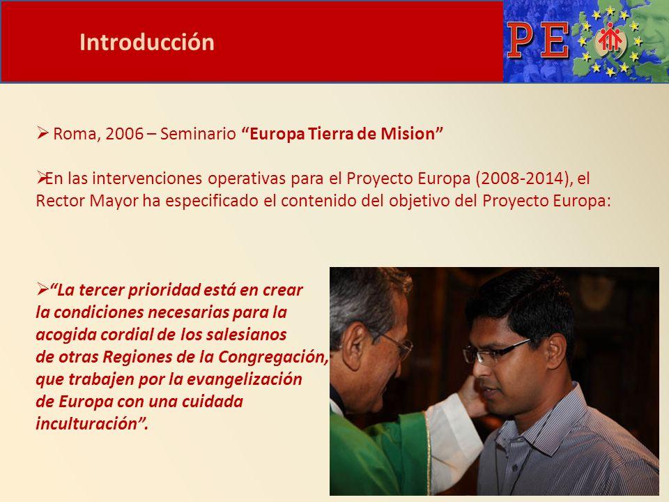 Introducción Roma, 2006 – Seminario Europa Tierra de Mision