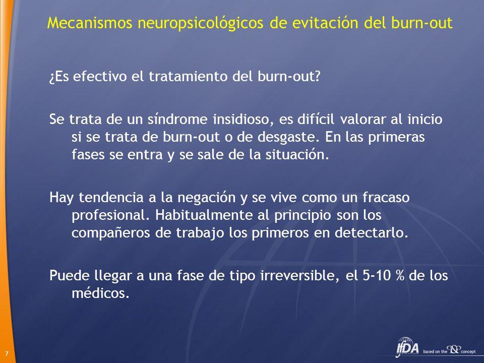Mecanismos neuropsicológicos de evitación del burn-out