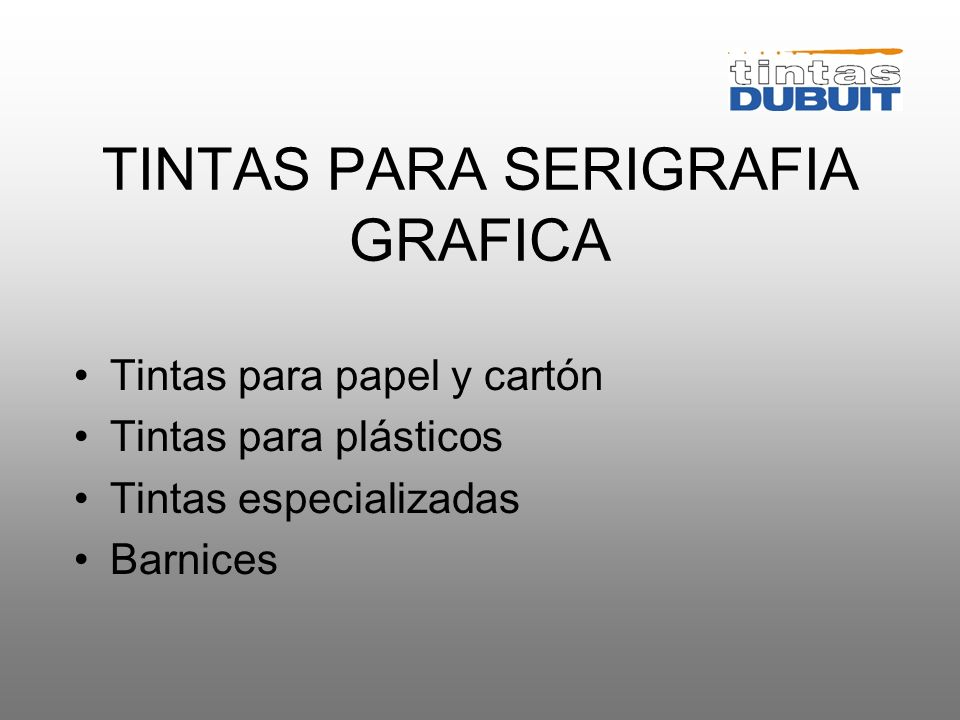 TINTAS PARA SERIGRAFIA GRAFICA