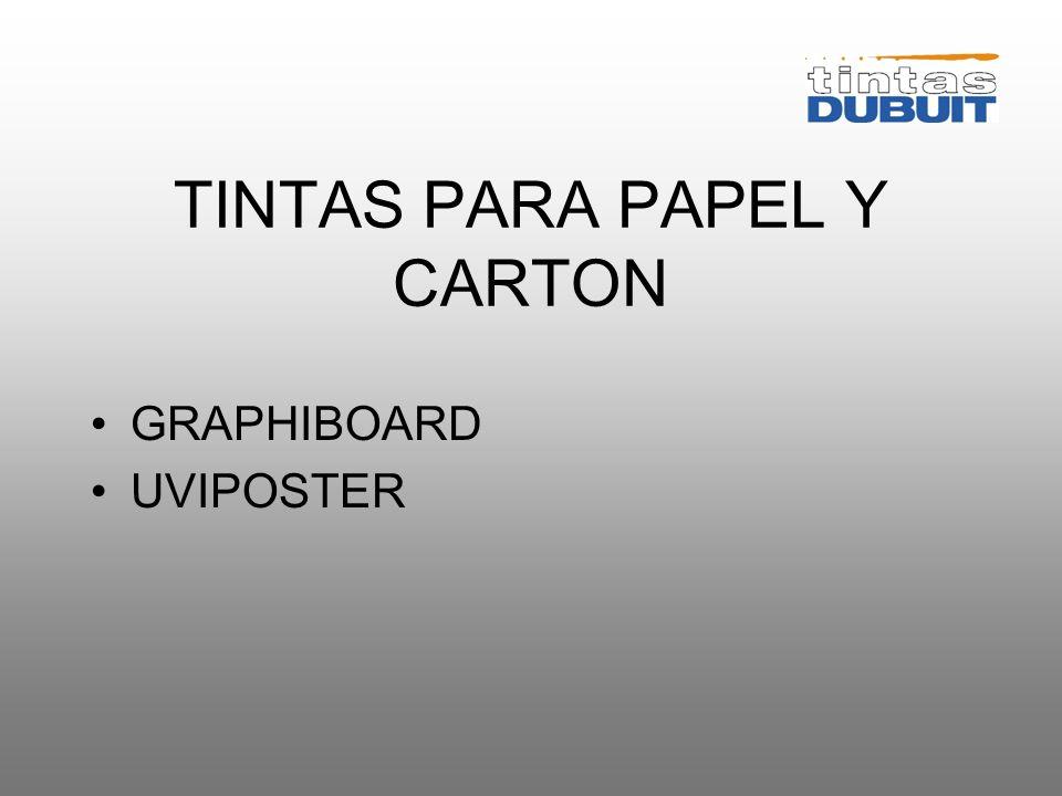 TINTAS PARA PAPEL Y CARTON