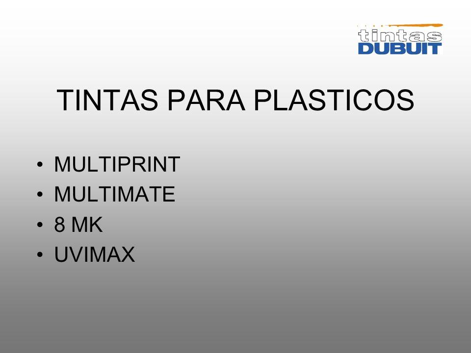 TINTAS PARA PLASTICOS MULTIPRINT MULTIMATE 8 MK UVIMAX