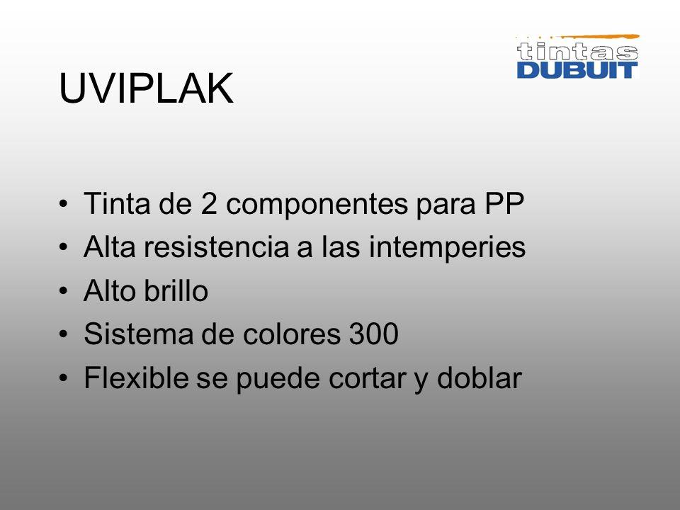 UVIPLAK Tinta de 2 componentes para PP