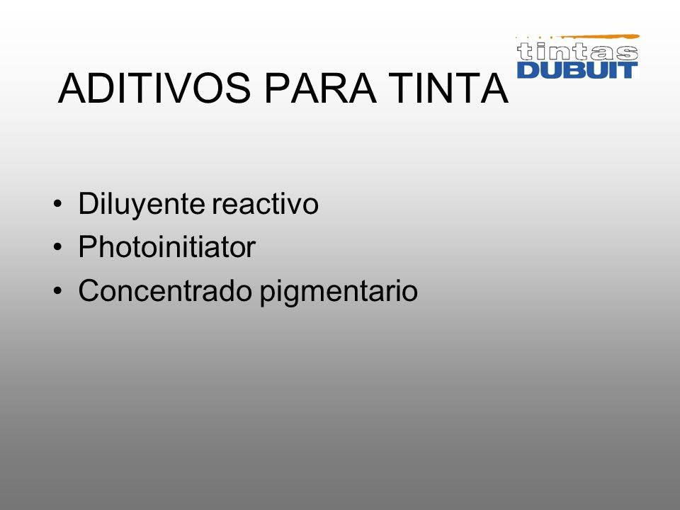 ADITIVOS PARA TINTA Diluyente reactivo Photoinitiator