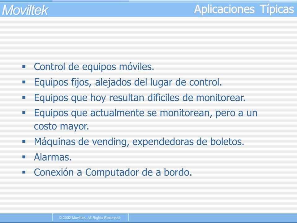 Aplicaciones Típicas Control de equipos móviles.