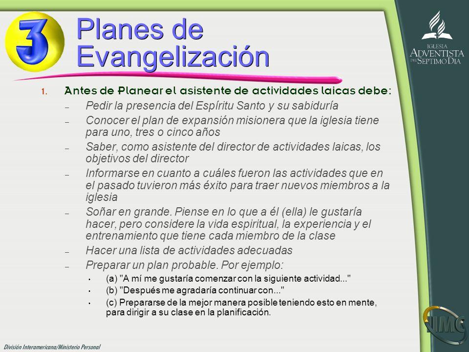 Planes de Evangelización