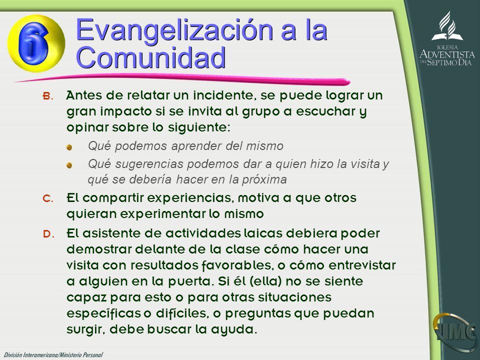 Evangelización a la Comunidad