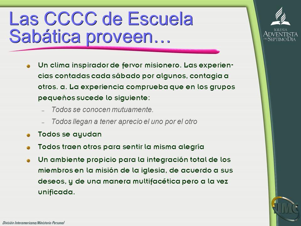 Las CCCC de Escuela Sabática proveen…
