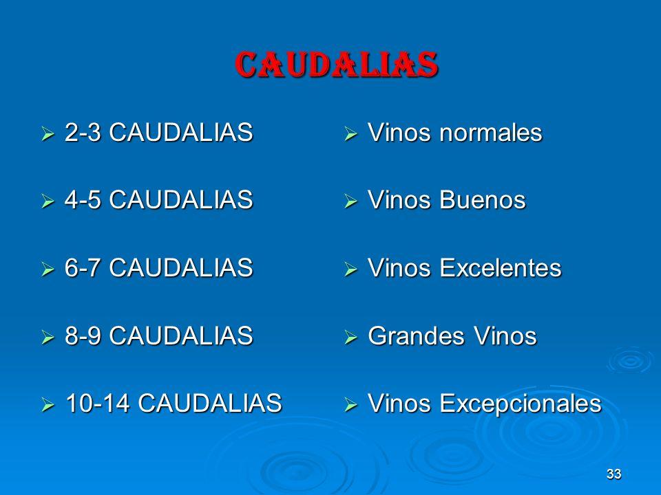 CAUDALIAS 2-3 CAUDALIAS 4-5 CAUDALIAS 6-7 CAUDALIAS 8-9 CAUDALIAS