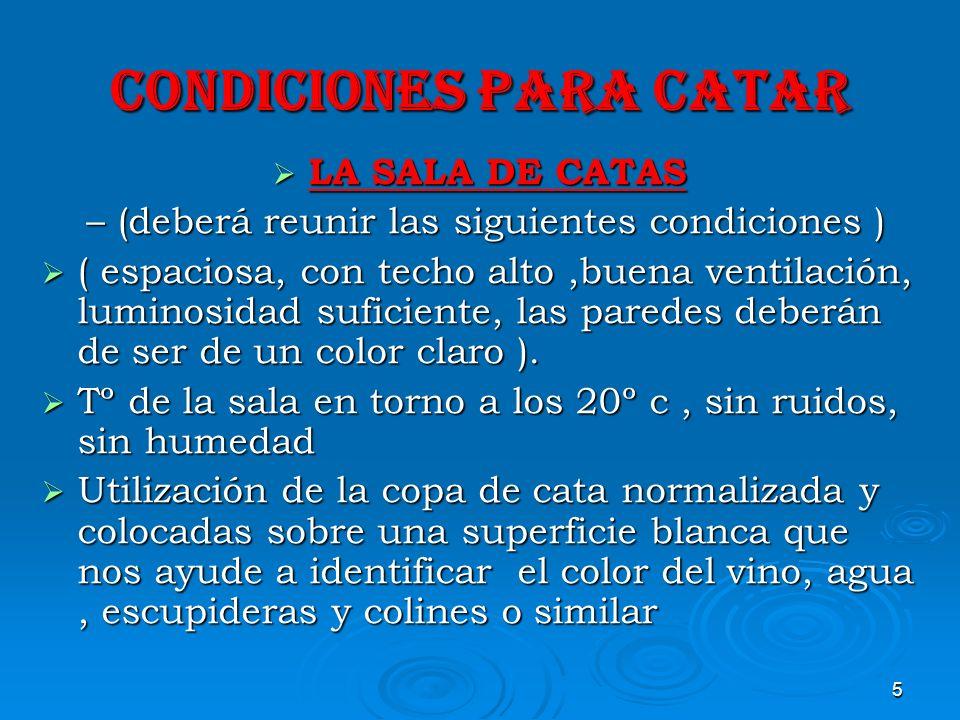 CONDICIONES PARA CATAR