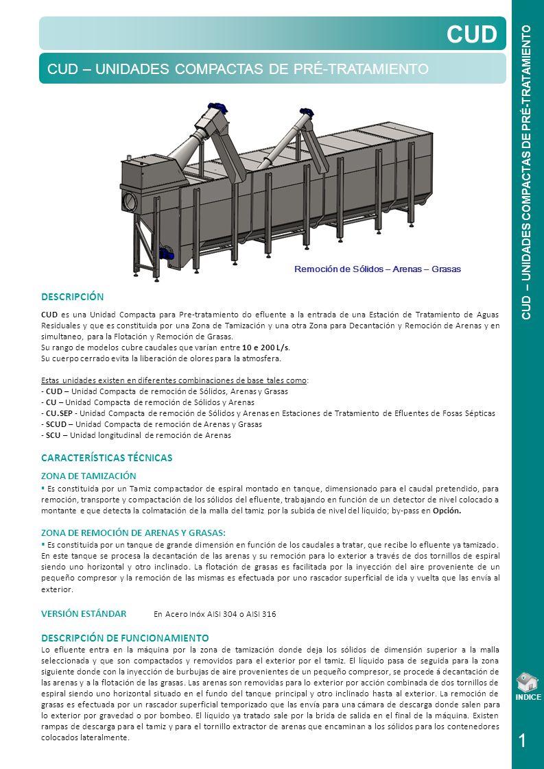 CUD – UNIDADES COMPACTAS DE PRÉ-TRATAMIENTO