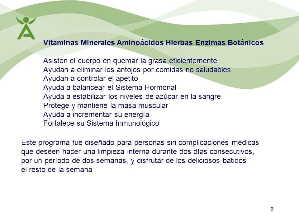Vitaminas Minerales Aminoácidos Hierbas Enzimas Botánicos