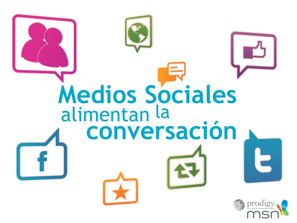 Medios Sociales la conversación alimentan