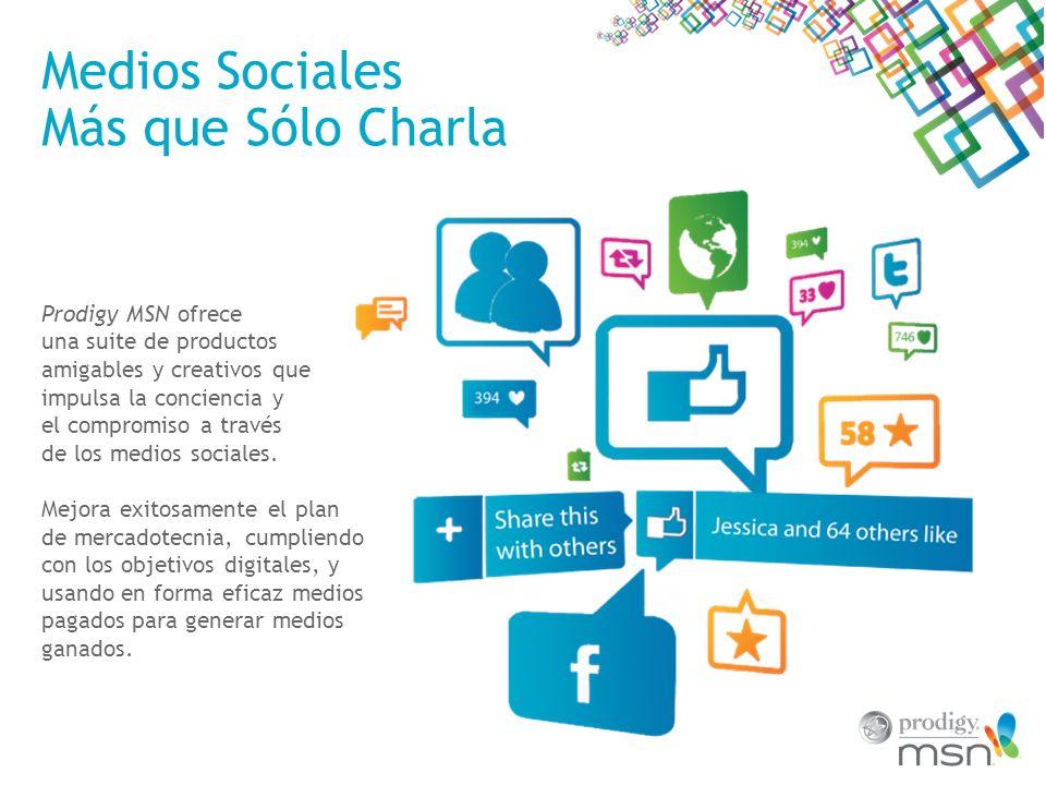 Medios Sociales Más que Sólo Charla Prodigy MSN ofrece