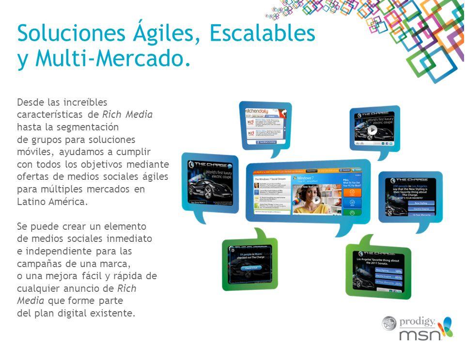 Soluciones Ágiles, Escalables y Multi-Mercado.