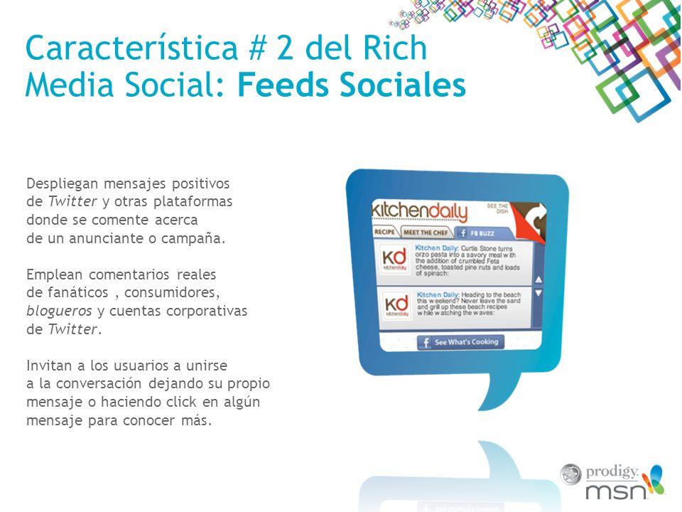 Característica # 2 del Rich Media Social: Feeds Sociales