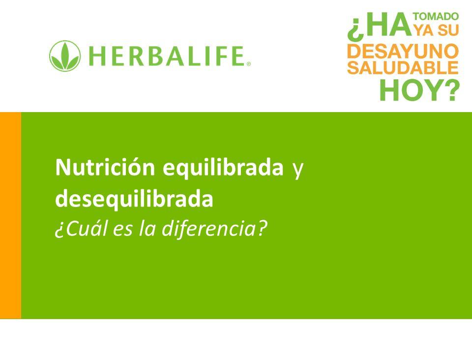 Nutrición equilibrada y desequilibrada ¿Cuál es la diferencia