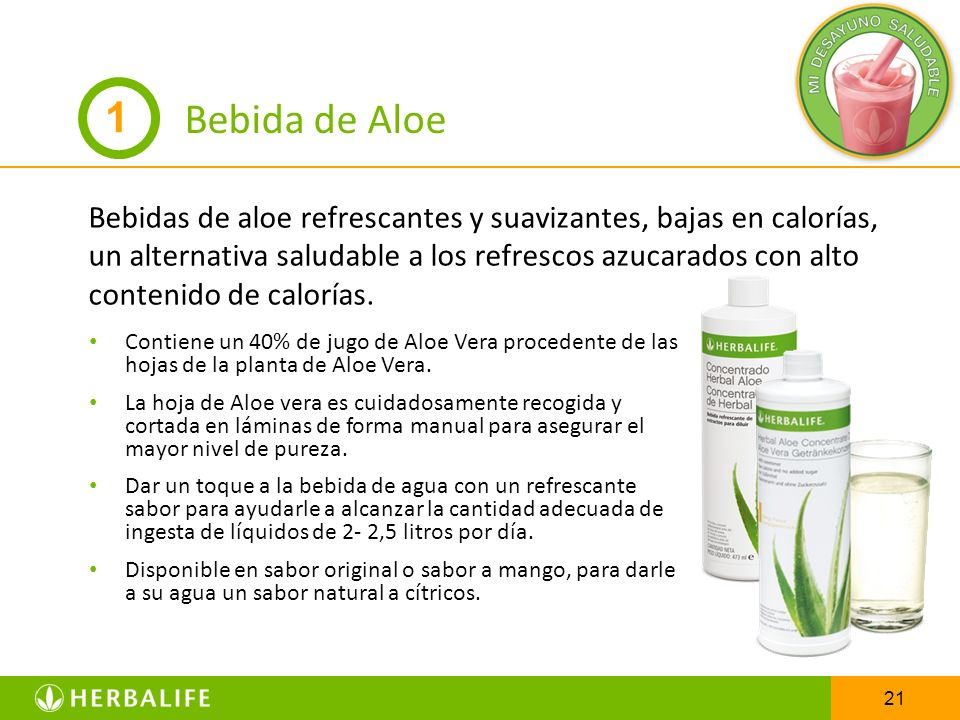 Bebida de Aloe 1.