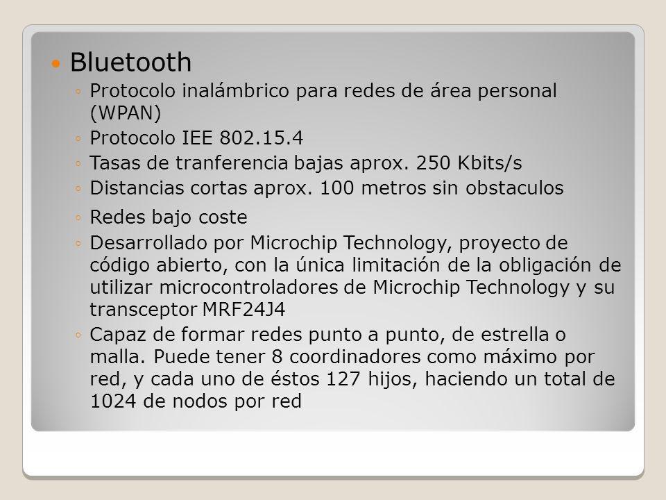 Bluetooth Protocolo inalámbrico para redes de área personal (WPAN)