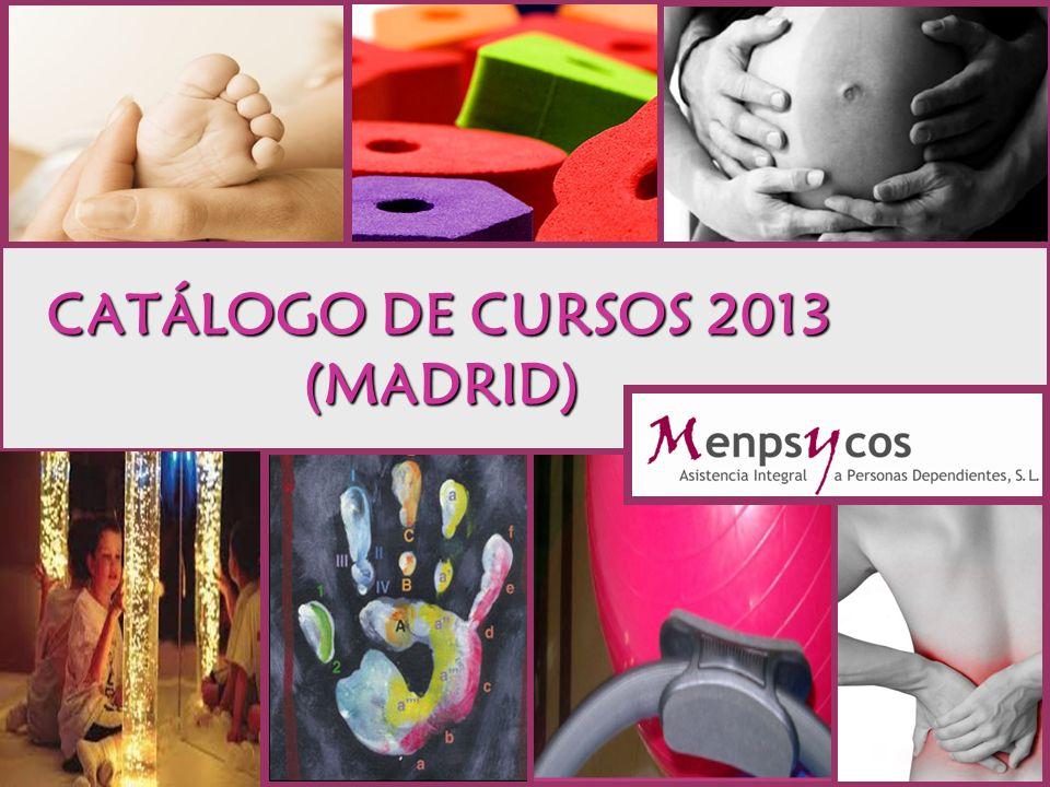 CATÁLOGO DE CURSOS 2013 (MADRID)