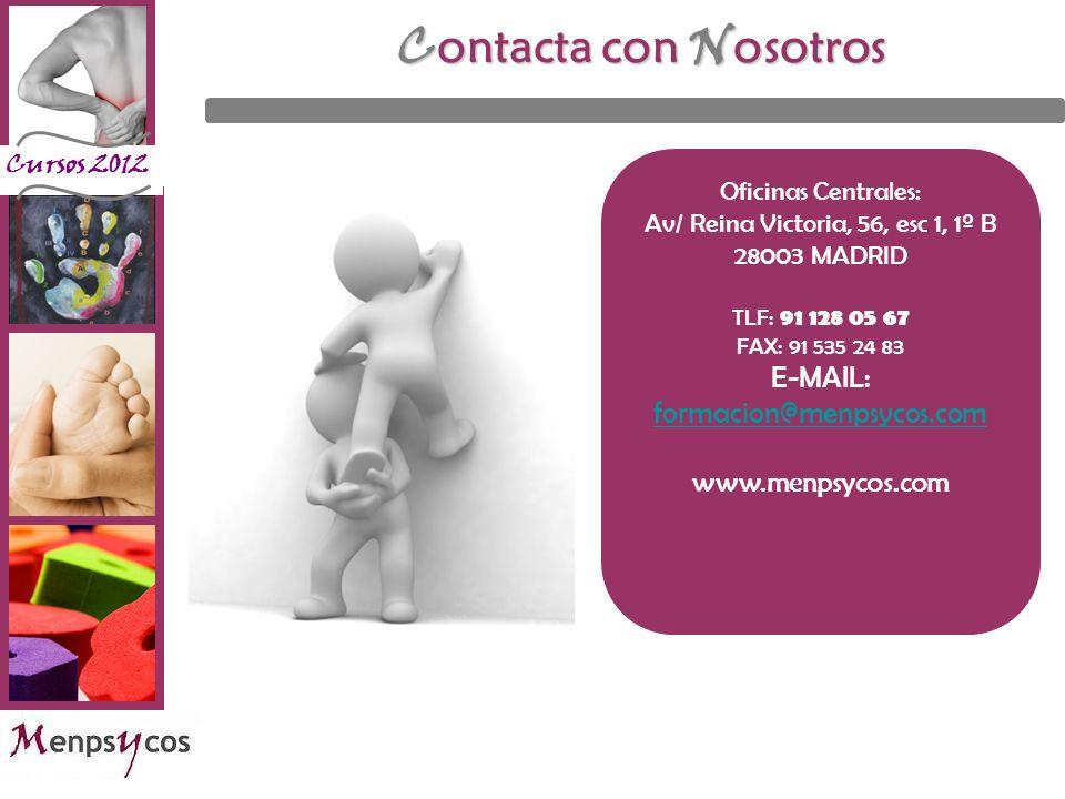 Contacta con Nosotros E-MAIL: formacion@menpsycos.com