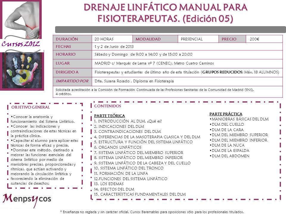 DRENAJE LINFÁTICO MANUAL PARA FISIOTERAPEUTAS. (Edición 05)