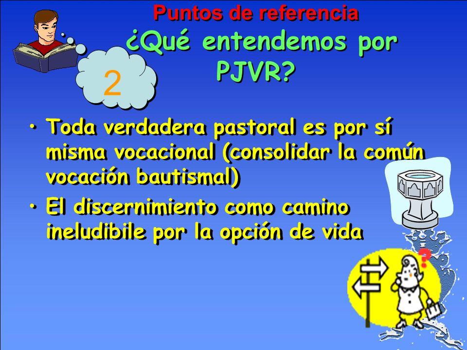 Puntos de referencia ¿Qué entendemos por PJVR