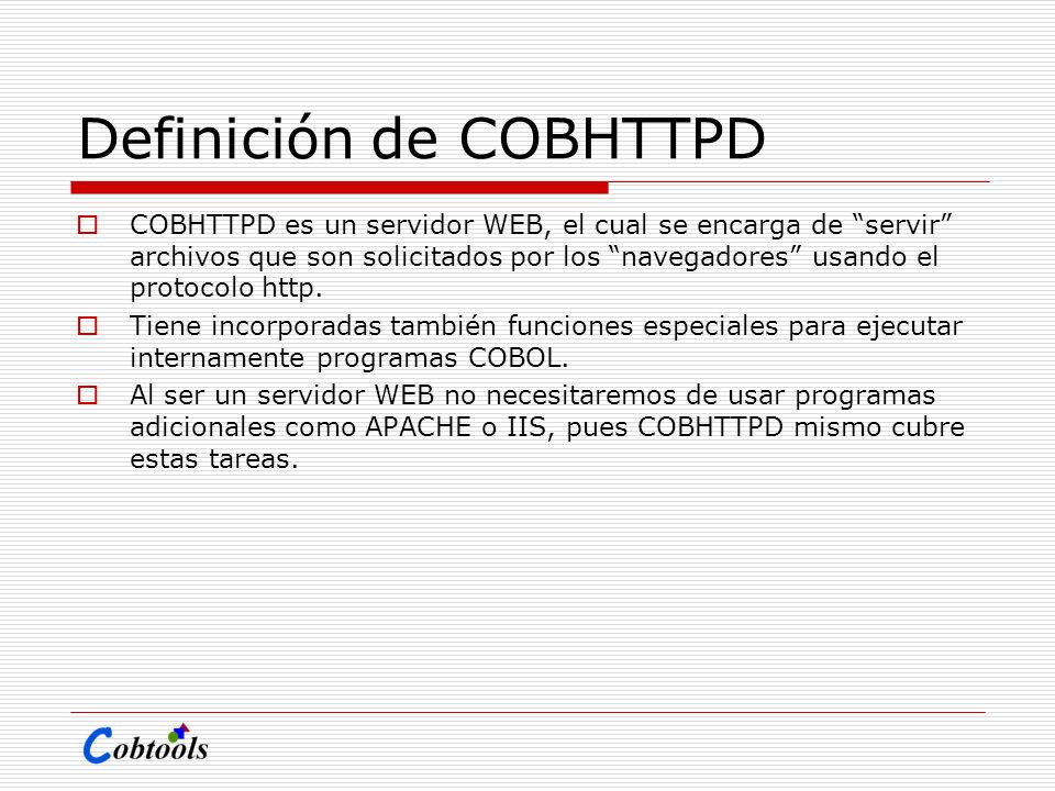 Definición de COBHTTPD