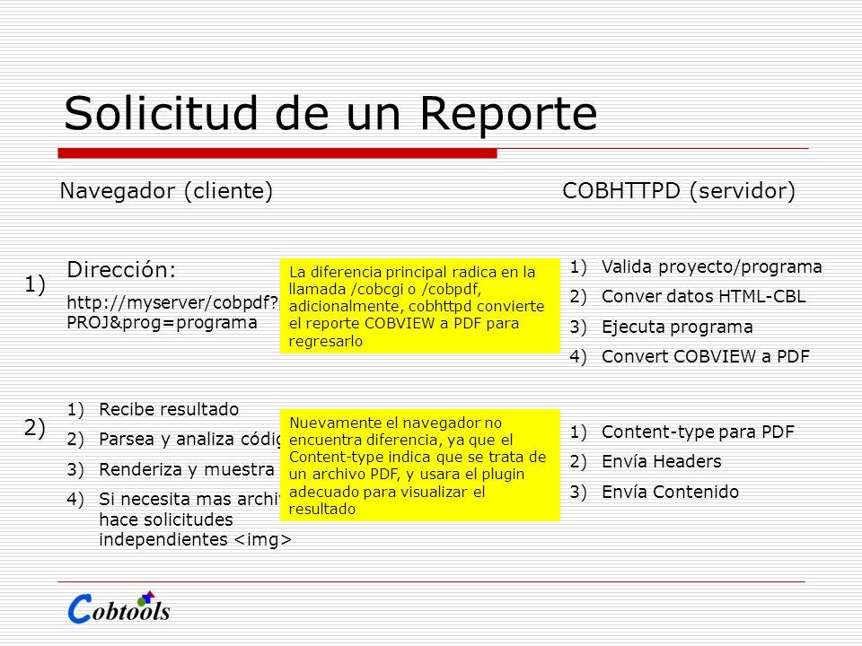 Solicitud de un Reporte