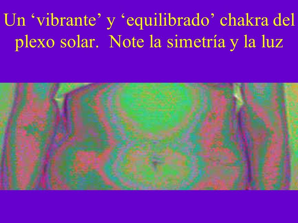 Un 'vibrante' y 'equilibrado' chakra del plexo solar