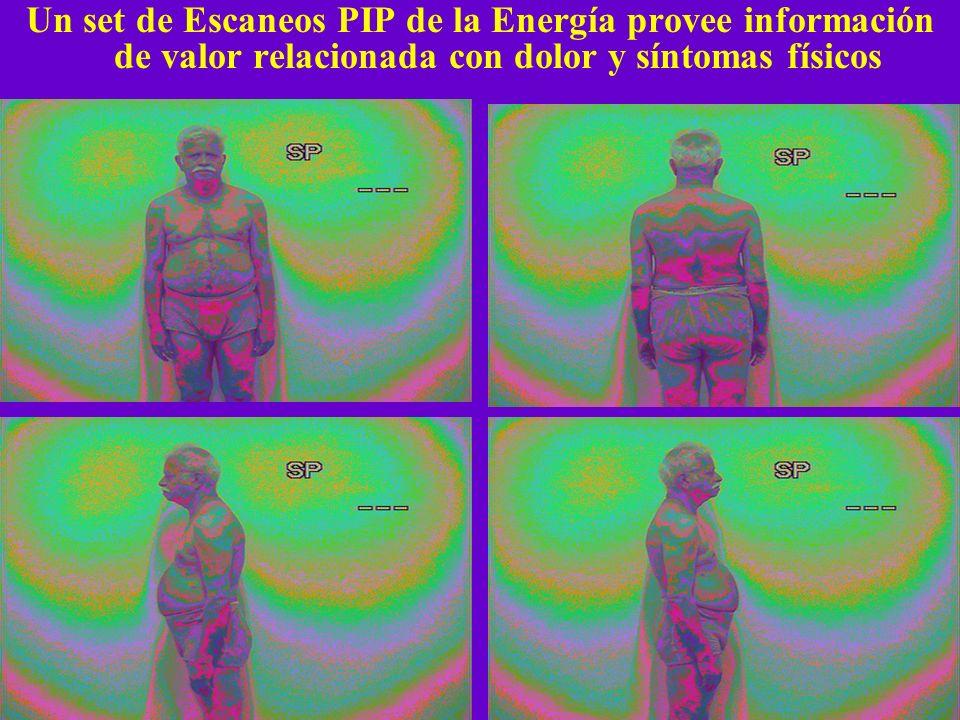 Un set de Escaneos PIP de la Energía provee información de valor relacionada con dolor y síntomas físicos