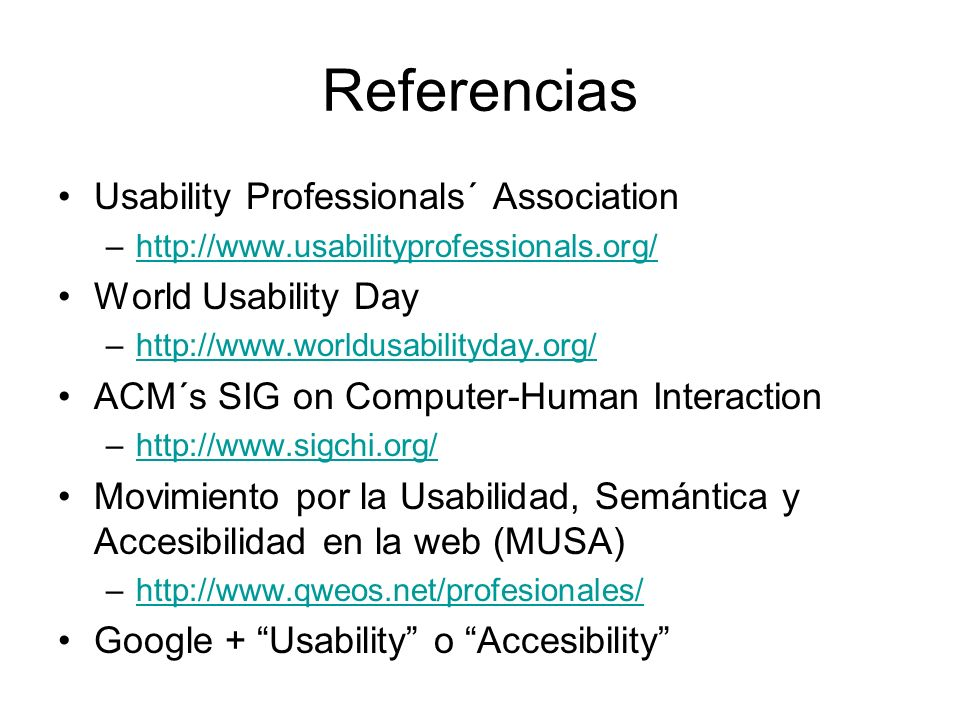 Referencias Usability Professionals´ Association World Usability Day