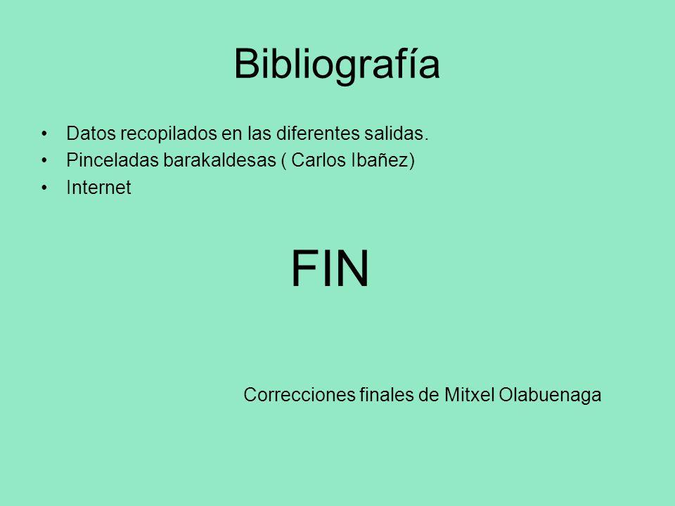 Bibliografía Datos recopilados en las diferentes salidas.
