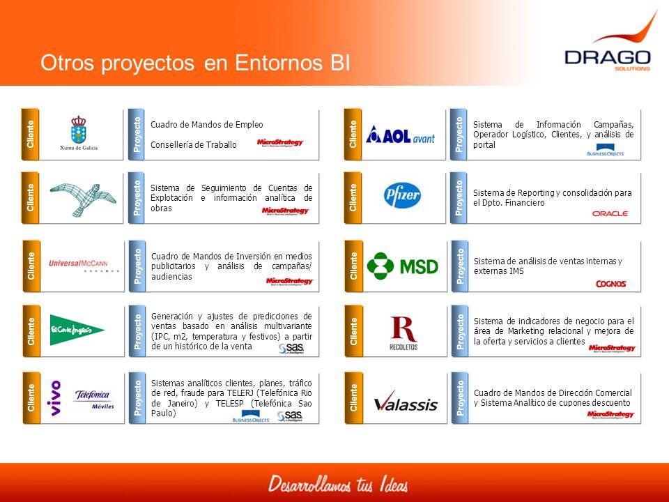 Otros proyectos en Entornos BI